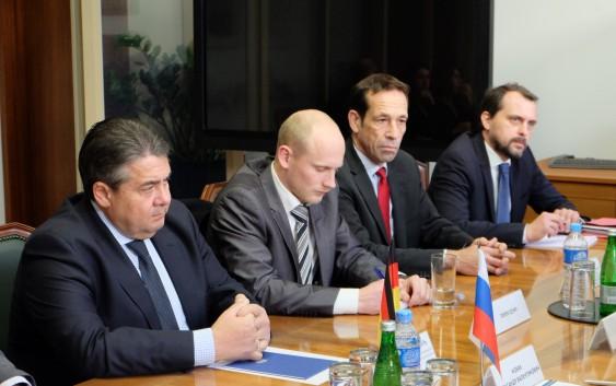 Александр Новак провел встречу с вице-канцлером Германии Зигмаром Габриэлем