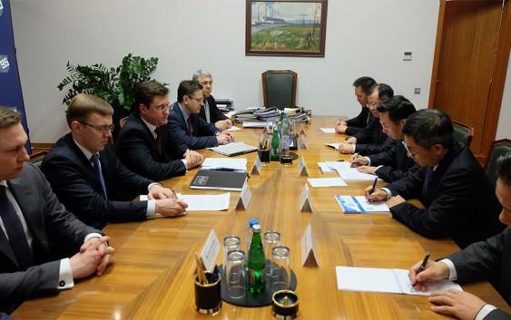 Александр Новак провел встречу с первым вице-президентом Китайской Национальной Нефтегазовой Корпорации