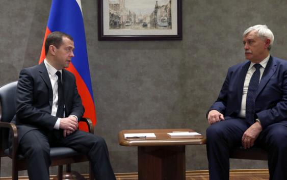 Дмитрий Медведев встретился с губернатором Санкт-Петербурга Георгием Полтавченко