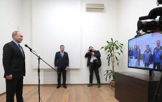 Ростовская АЭС: Президент РФ Владимир Путин дал старт программе вывода нового энергоблока №4 на проектную мощность