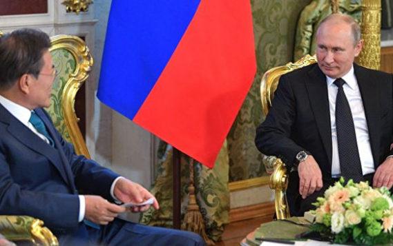 От энергетики до культуры: Путин провел переговоры с лидером Южной Кореи