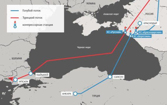 Газ по «Турецкому потоку» могут запустить с января 2020 года