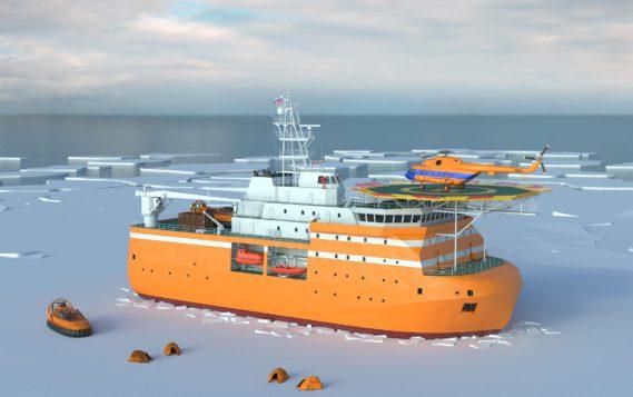 В Петербурге начали строить арктическую платформу «Северный полюс»