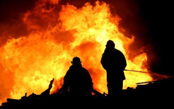 Пожар в Республике Саха (Якутия) на магистральном трубопроводе