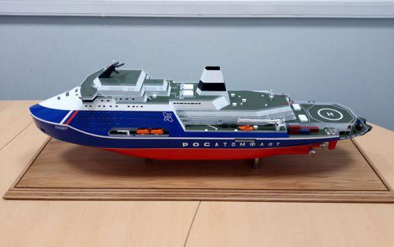 В Петербурге испытывают модель атомного ледокола «Лидер»
