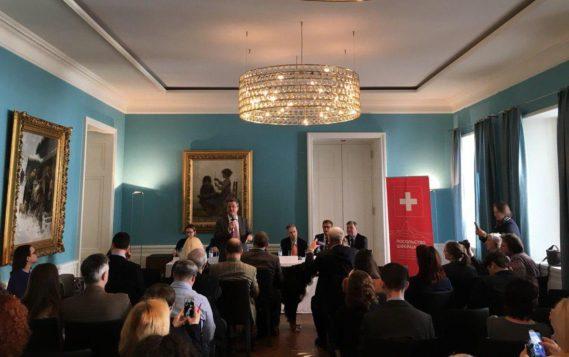 Редакция журнала РЭЭ на ежегодном приеме для представителей СМИ в Посольстве Швейцарии