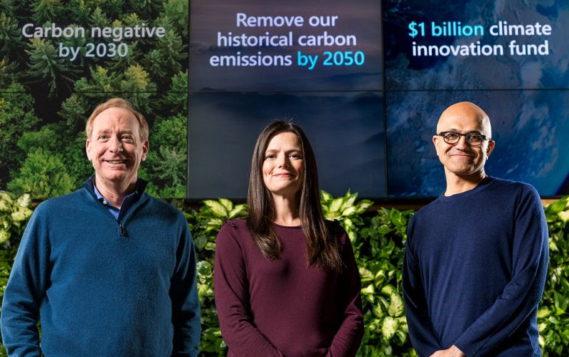 Microsoft обещает стать «углеродно-негативной» корпорацией к 2030 году
