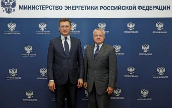 Состоялась встреча Александра Новака с Послом Соединенных Штатов Америки в России Джоном Салливаном