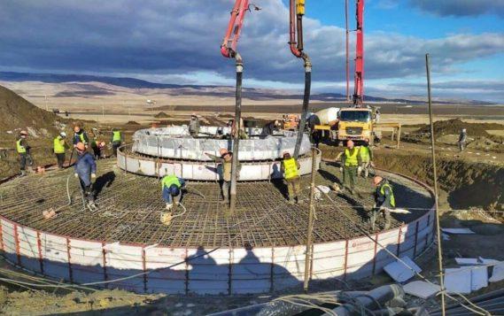 На Кочубеевской ветроэлектростанции возвели более половины фундаментов