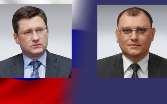Александр Новак провел переговоры с Министром энергетики Республики Беларусь Виктором Каранкевичем