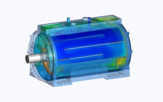 Двигатели серии AXW с водяным охлаждением компании АВВ компактнее и менее требовательны к обслуживанию