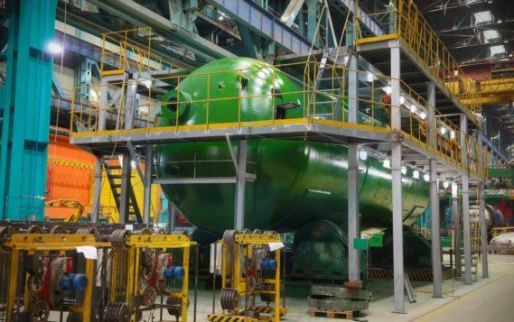 На Атоммаше изготовили первый парогенератор новой модификации для Курской АЭС-2
