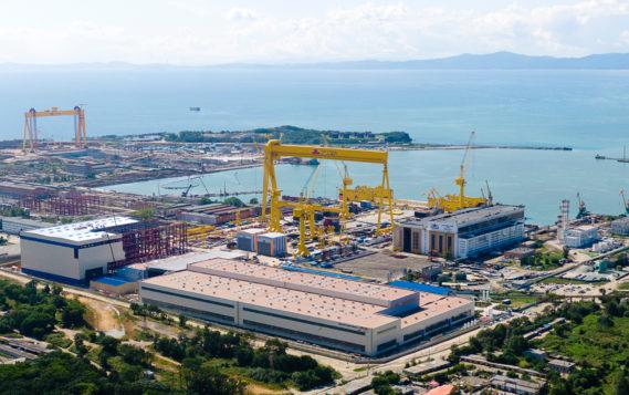 Судоверфь «Звезда» начала резку стали для новой серии судов – танкеров-газовозов СПГ ледового класса ARC 7
