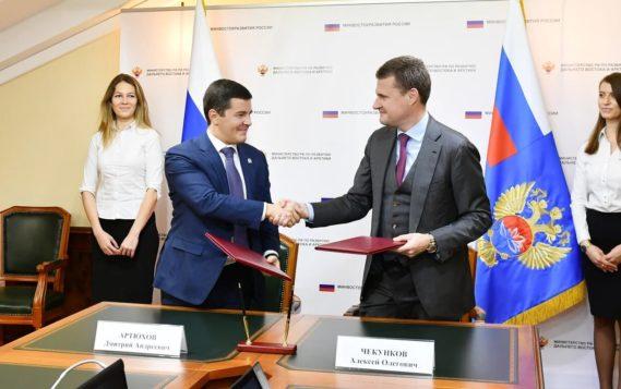 Алексей Чекунков и Дмитрий Артюхов обсудили реализацию инфраструктурных проектов и поддержку бизнеса на Ямале