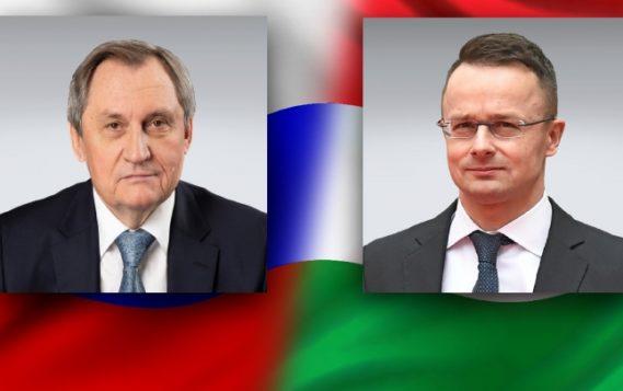 Министр энергетики Николай Шульгинов и министр внешнеэкономических связей и иностранных дел Венгрии Петер Сийярто обсудили сотрудничество в газовой и атомной сферах