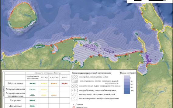 Представлен «Электронный атлас абразионной и ледово-экзарационной опасности прибрежно-шельфовой зоны Российской Арктики»