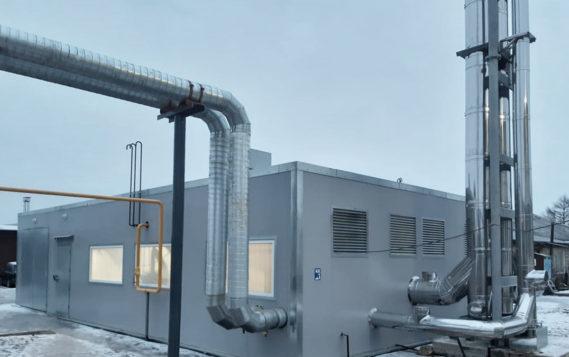 Консорциум ЛОГИКА-ТЕПЛОЭНЕРГОМОНТАЖ построил  газовую блочно-модульную котельную в Пскове  для нужд «Псковских тепловых сетей»