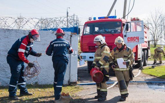 В «Белгородэнерго» прошли учения по ликвидации условного возгорания на подстанции