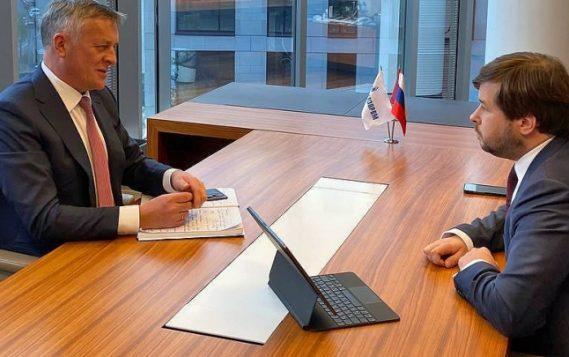 Павел Сорокин обсудил ход догазификации регионов с главой «Газпром межрегионгаза» Сергеем Густовым
